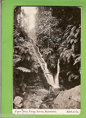 #g.    1909  Postcard - Fairy Dell Falls, Leura , Blue Mountains, Nsw