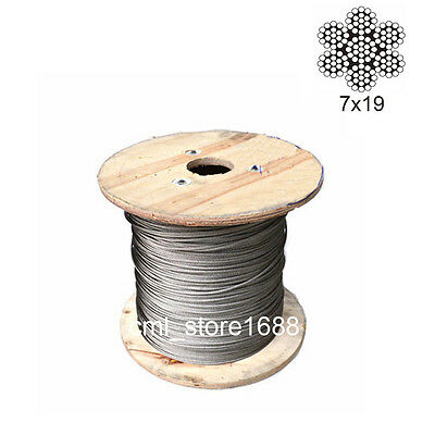 7x19 304Stainless Steel Cable Wire Rope 1.5mm to 5mm