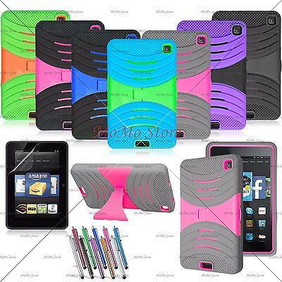 Hybrid Case Rugged Kickstand Shockproof Cover For Amazon Kindle Fire HD 6'' 2014