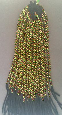 25 rasta colored twisted friendship bracelets Peruvian Reggae one size