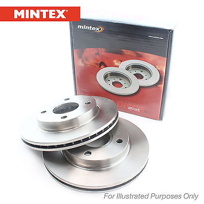New Ssangyong Rexton Genuine Mintex Front Brake Discs Pair x2 - MDC2244