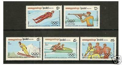 Kampuchea - 1983 Winter Olympic Games set - MNH - SG 475/9
