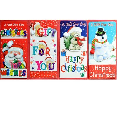 Pack Of 4 Cute Christmas Money Wallets Gift Cards Envelopes Handmade 3D