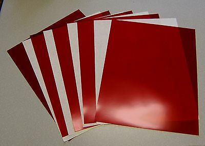 "5 Sheets .005 Red Rubylith 11"" X 14"" Nos Block Uv Rays"