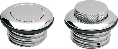 Drag Specialties chrome pop-up vented gas cap 82-96 Harley XLH FXB FXDL FXST