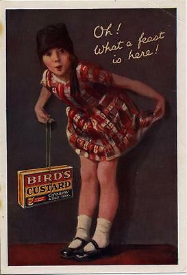 """ORIGINAL 1920s MAGAZINE ADVERT FOR BIRD'S CUSTARD """"OH WHAT A FEAST IS HERE"""""""