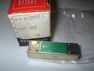 Magnecraft W133Mpcx-3  Spdt  12V Dc Reed Relay Mercury Wetted 250 Ohm  Box#2