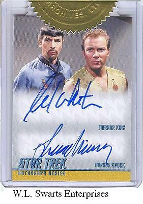 Star Trek TOS Portfolio Prints DA32 William Shatner Leonard Nimoy Autograph Card