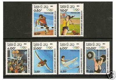 Laos - 1983 Olympic Games set - MNH - SG 616/21