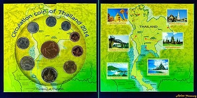 2014 Thailand Year Mint Set Circulation Coin Pack Original By Thai Mint Limited