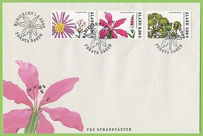 Aland 2007 Water Plants set First Day Cover