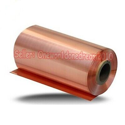 1 Piece 99.9% Pure Copper Cu Metal Sheet Foil 0.2 x 100 x 200 mm High Purity