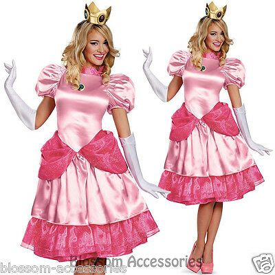 K75 Princess Peach Super Mario Bros Nintendo Games Fancy Dress Up Party Costume