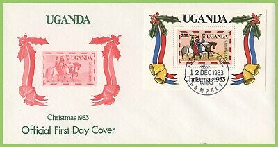 Uganda 1983 Christmas miniature sheet on First Day Cover