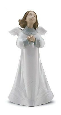 Lladro #6788 An Angel's Wish Brand New In Box Green Religious Prayer Cute Save$$