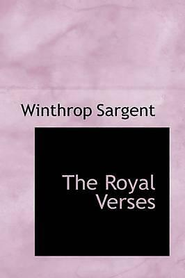 NEW The Royal Verses by Winthrop Sargent Paperback Book (English) Free Shipping