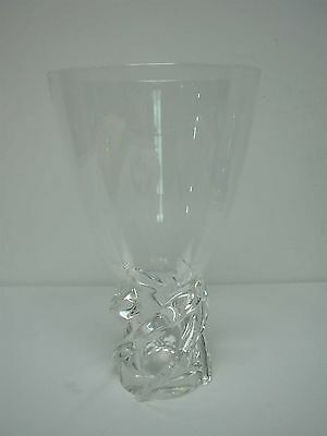 """Signed Steuben Crystal Large 11 1/8"""" Whirlpool Vase ~ Excellent Condition"""