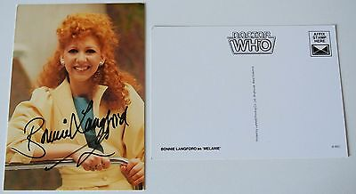 Bonnie Langford SIGNED Autograph Official Photo Card Doctor Dr Who & COA
