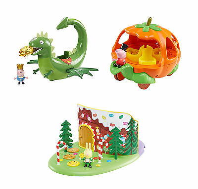 Peppa Pig Once Upon a Time Playset - Pumpkin Carriage, Woodland or Dragon Flyer