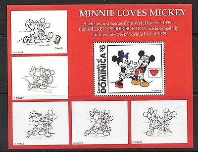 DOMINICA SGMS2256b DISNEY SWEETHEARTS  MNH