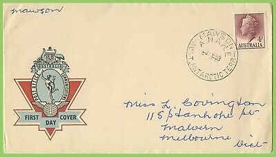 Australia 1959 QEII 4d First Day Cover with ANARE Mawson cancel