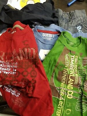 Batch Of Kids/boys Clothes Age 2-4 Bench Diesel Timberland B Sherman Levis 35Pcs