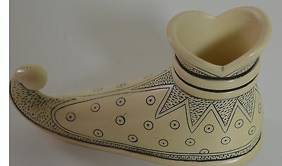 Stunning Vintage Antique Ivory-Colored Aladdin-Type Shoes – Candlesticks Pp661