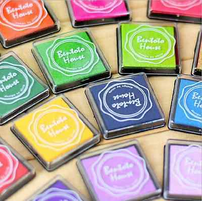 20Color Children's Finger Paint Rubber teacher Stamp Craft Ink Pad Wood Fabric