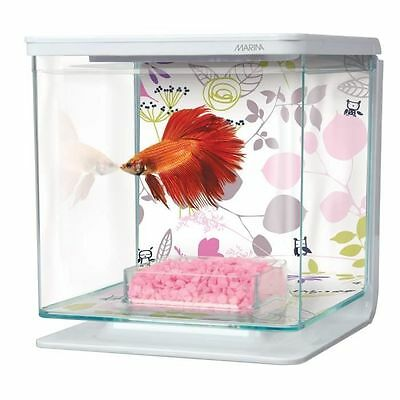 BETTA FLORAL starter kit aquarium 2 L [Blanc] - Marina - Aquarium équip NEUF