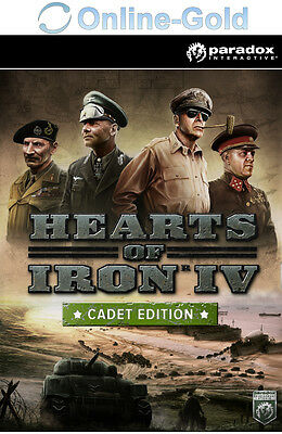 Hearts of Iron 4 IV Cadet Edition - PC Game Code - Steam Download Key DE Version