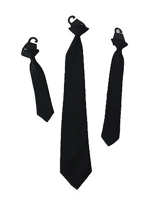 Childrens Black Clip On Tie Boys Black Clip On Tie Mens Black Clip On Tie Kids