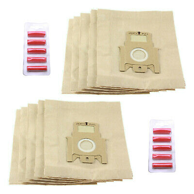 10 Superior Paper Dust Bags For Hoover Telios Vacuum Cleaners + 10 Fresheners