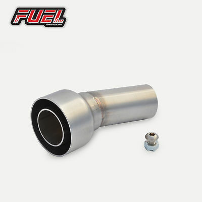"""Race Can Removable Baffle DB Noise Killer 2"""" 51mm Angled Outlet Exhaust Silencer"""