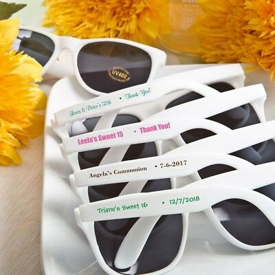 40 Personalized White Sunglasses Wedding Shower Party Favors