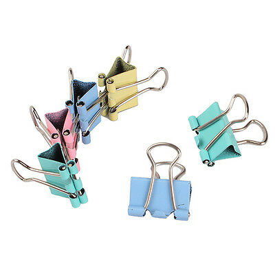 60Pcs Multi-color Small 15mm Width Metal Binder Clip Clips Office Paper File