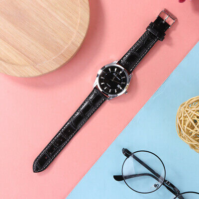 New Men's Fashion Electronic Stainless Steel Leather Casual Quartz Wrist Watch