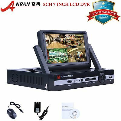 PTZ 960H 8CH DVR WITH MONITOER DVR Audio AHD CCTV System Digital Video Recorder