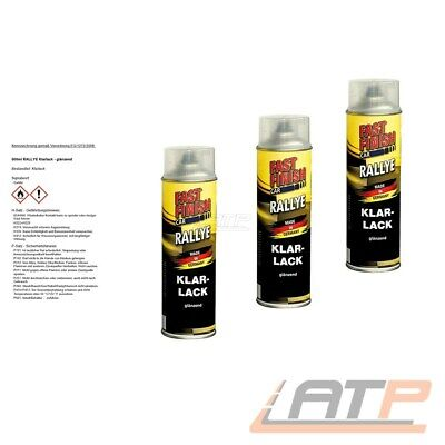 3x 500ml FAST FINISH KLARLACK GLÄNZEND LACKSPRAY AUTOLACK  LACK SPRAYDOSE