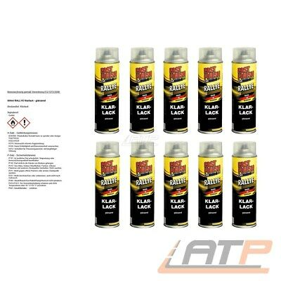 10x 500ml FAST FINISH KLARLACK GLÄNZEND LACKSPRAY AUTOLACK  LACK SPRAYDOSE