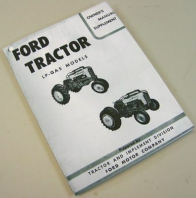 Ford 601 801 series tractor operator owners manual all purpose ford 601 701 801 901 series lp gas tractor operator owners manual supplement lpg fandeluxe Choice Image