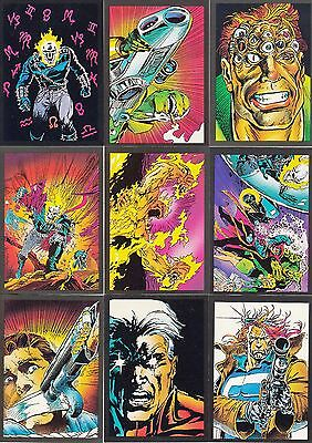 Ghost Rider 1992 Comic Images Base Card Set Of 80 + 10 Glow In The Dark Marvel