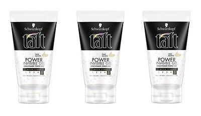 (1L=13,11€) 3x Drei Wetter Taft Invisible Power Gel, 3x150ml