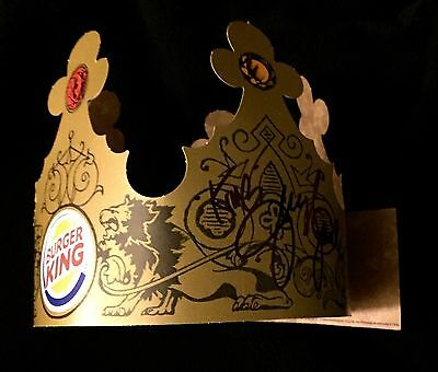 Jerry The King Lawler Signed Burger King Crown