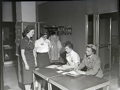 AAK1016 Original 1961 4x5 BW Photo Negative Girl Scout Conference Leaders