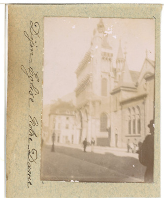 France, Dijon, Eglise Notre Dame  Vintage citrate print. Tirage citrate  6x8