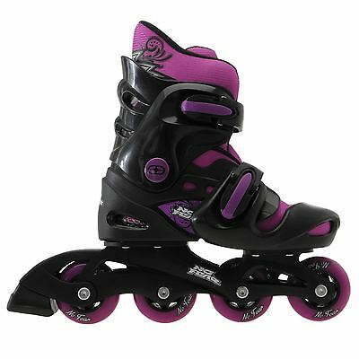 No Fear Kids Girls Inline Skates Removable Sock Adjustable Footplate