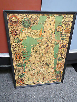 1926 Antique Map of New Hampshire Shurtleff & McMillin Copyright 1926 Pictorial