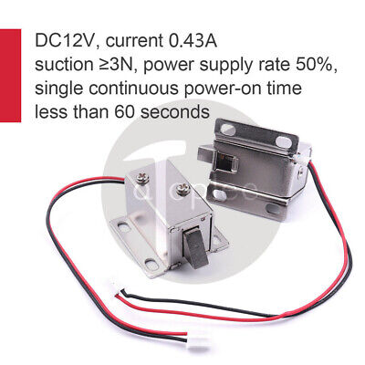 DC12V Lock Tongue Upward Luggage Solenoid Electric Solenoid Assembly Door Drawer