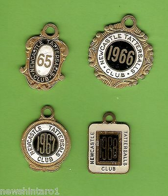 #D182. NEWCASTLE TATTERSALLS   CLUB  MEMBER BADGES 1965 to 1968