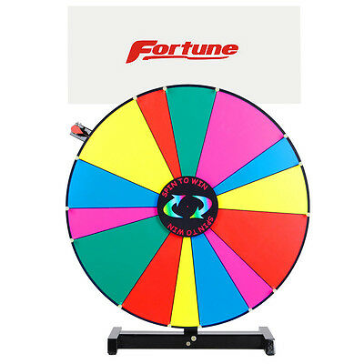 "24"" Dry Erase Unequal Slot Tabletop Color Prize Wheel w/ Banner Trade Show Game"